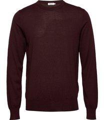 m. merino sweater gebreide trui met ronde kraag rood filippa k
