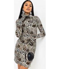 akira look my way leopard glove dress