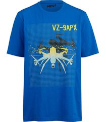 t-shirt men plus blauw