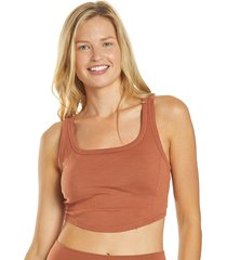 prana women's becksa bralette - liqueur heather x-large cotton shirt