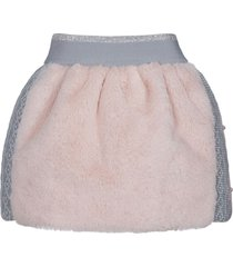 lapin house faux-fur knitted skirt - pink