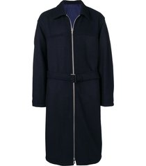 3.1 phillip lim oversized reversible coat - blue