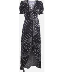 mc2 saint barth saphire long dress with all-over bandana print