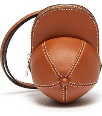nano cap crossbody leather bag