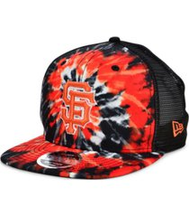 new era san francisco giants tie dye mesh back 9fifty cap