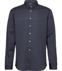 dalton button under shirt overhemd casual blauw morris