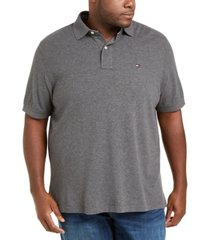 tommy hilfiger men's big & tall solid classic fit ivy polo