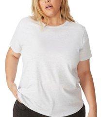 cotton on trendy plus size crew neck t-shirt