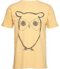 alder big owl tee - gots/vegan t-shirts short-sleeved gul knowledge cotton apparel