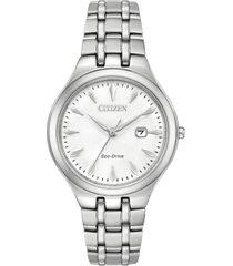 reloj  mujer premium eco-drive plateado citizen