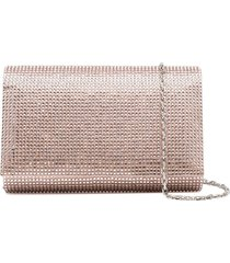 rené caovilla sequinned clutch bag - pink