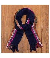 100% alpaca scarf, 'tarma lights' (peru)