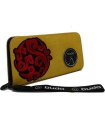 billetera amarilla buda