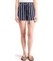 indigo rein juniors' striped tie-waist shorts