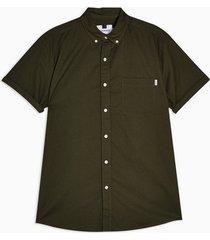 mens khaki stretch skinny oxford shirt