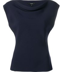 theory boat neck t-shirt - blue