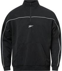 sweatshirt workout ready doubleknit quarter zip