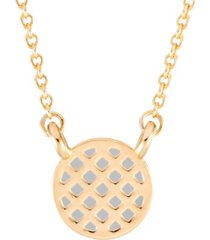 brook & york 14k gold plated mystic enamel pineapple necklace