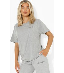 bridal squad t-shirt, grey marl