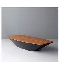 mesa de centro retangular occa preta e caramelo - doimo