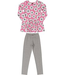 conjunto rosado-gris bee loop