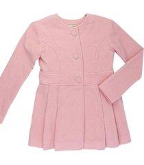 casaco alfaiataria de lã gingga baby e kids rosa claro - kanui