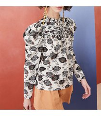 camicetta bevin patchwork floral