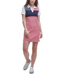 tommy hilfiger cotton flag polo dress