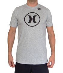 camiseta hurley df circle icon-gris-plateado