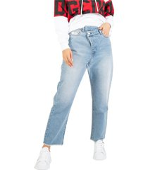 cropped regular denim jeans