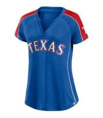 majestic women's texas rangers league diva t-shirt