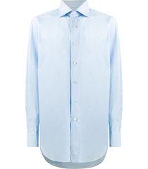 brioni cutaway collar formal shirt - blue