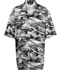 balenciaga camouflage-print shirt