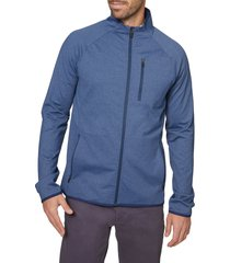 men's hickey freeman zip tech jacket, size x-large - blue
