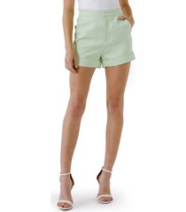endless rose high waist tailored shorts, size small in pistachio at nordstrom