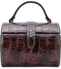 a.n.g.e.l.o. vintage cult 1980s barrel jewellery case - brown
