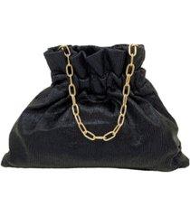 la regale mini pleated metallic convertible handbag
