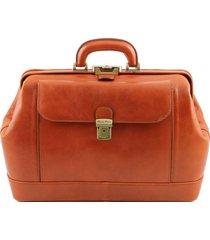 tuscany leather tl141299 leonardo - esclusiva borsa medico in pelle miele
