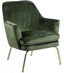 fotel tapicerowany na złotych nogach kobi zielony