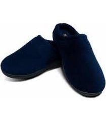 pantuflas con suela viscoelastica memory foam slippers - m azul