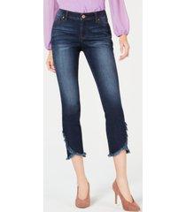 inc tulip-hem skinny ankle jeans, created for macy's