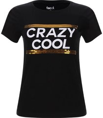 camiseta crazy cool color negro, talla l