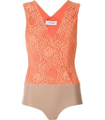 olympiah petale lace bodysuit - orange