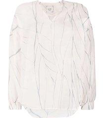 alysi low shoulder sleeve blouse