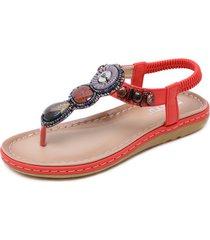 sandalias vintage para mujer sandalias con cuentas