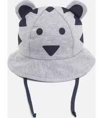 chapéu infantil urso - tam pp a g