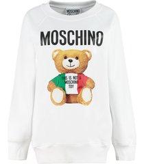 moschino moschino teddy bear printed long sweatshirt