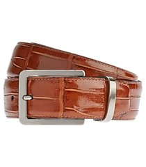 jos. a. bank crocodile embossed leather belt - long clearance