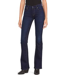 hudson jeans hudson barbara high-waist bootcut jeans, size 25 in requiem at nordstrom