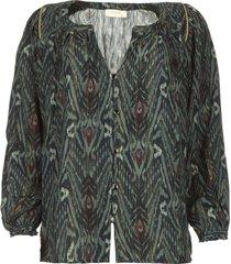 blouse met print joel blauw
